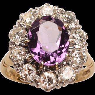 Edwardian 18kt Gold, Halo Ring