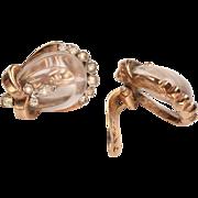 1940's Trifari Jelly Belly Earrings