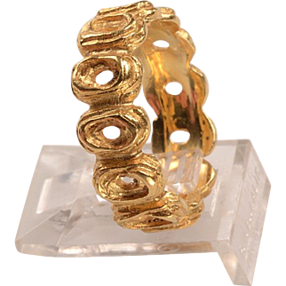 Modernism Band:  14kt hand casting - very unisex