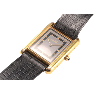 18kt Gold Vermeil Cartier Tank Watch