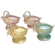Venetian Glass Master Salt Cellars: Set of 4