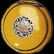 1930's Powder Compact: Sterling, Enamel