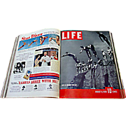 60 Vintage LIFE Magazines: 1937-1938 - Three Bound Volumes