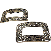 Matched Pair of Vintage Shoe Buckles