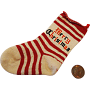 c.1930's  Baby's First Christmas Stocking