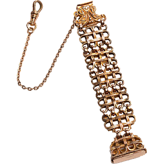 Ornate Victorian Watch Fob with matching chain