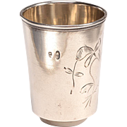 Russian Silver Vodka Shot Glass 1898