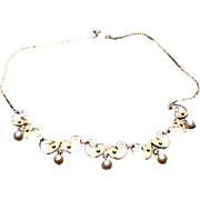 Van Dell Gold Tone, Faux Pearl Necklace