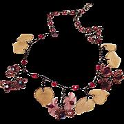 Venetian Glass Floral Necklace