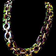 1970's YSL Dark Green Bakelite Belt, Necklace