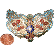 Polychrome Cloisonne Dress Buckle c.1910