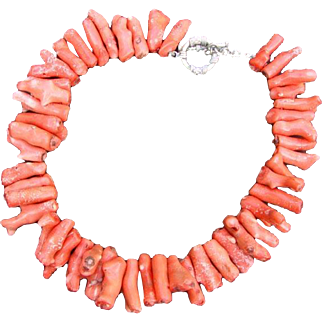 Chunky Coral Statement Necklace