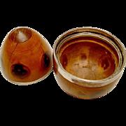 19th c. Lignum Vitae Covered Box