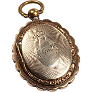Victorian Keepsake Locket: 12kt gold doors and gold filled body