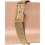 FREE US shipping - 14kt GENEVE Omega Wrist Watch, 14kt Band (20 grams) - stemwind