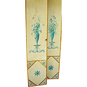 Pair of Antique French, Hand Painted, Wooden Boudoir Doors c.1920's
