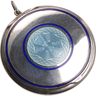 Sterling Silver Austro Hungarian Compact c.1915