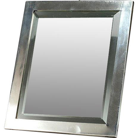 English silver table frame beveled table mirror for How to display picture frames on a table