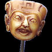 Oriental Face Stick Pin