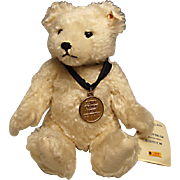 "White Mohair Steiff Teddy Bear with Growler:  Limited Edition - Disney ""Dawn of the New Century"" - excellent condition"