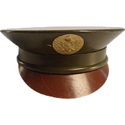 WWII Powder Compact - Military Hat Figural