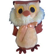 Walt Disney Distributing Co.1950's Stuffed Plush Animal Owl from Winnie The Pooh