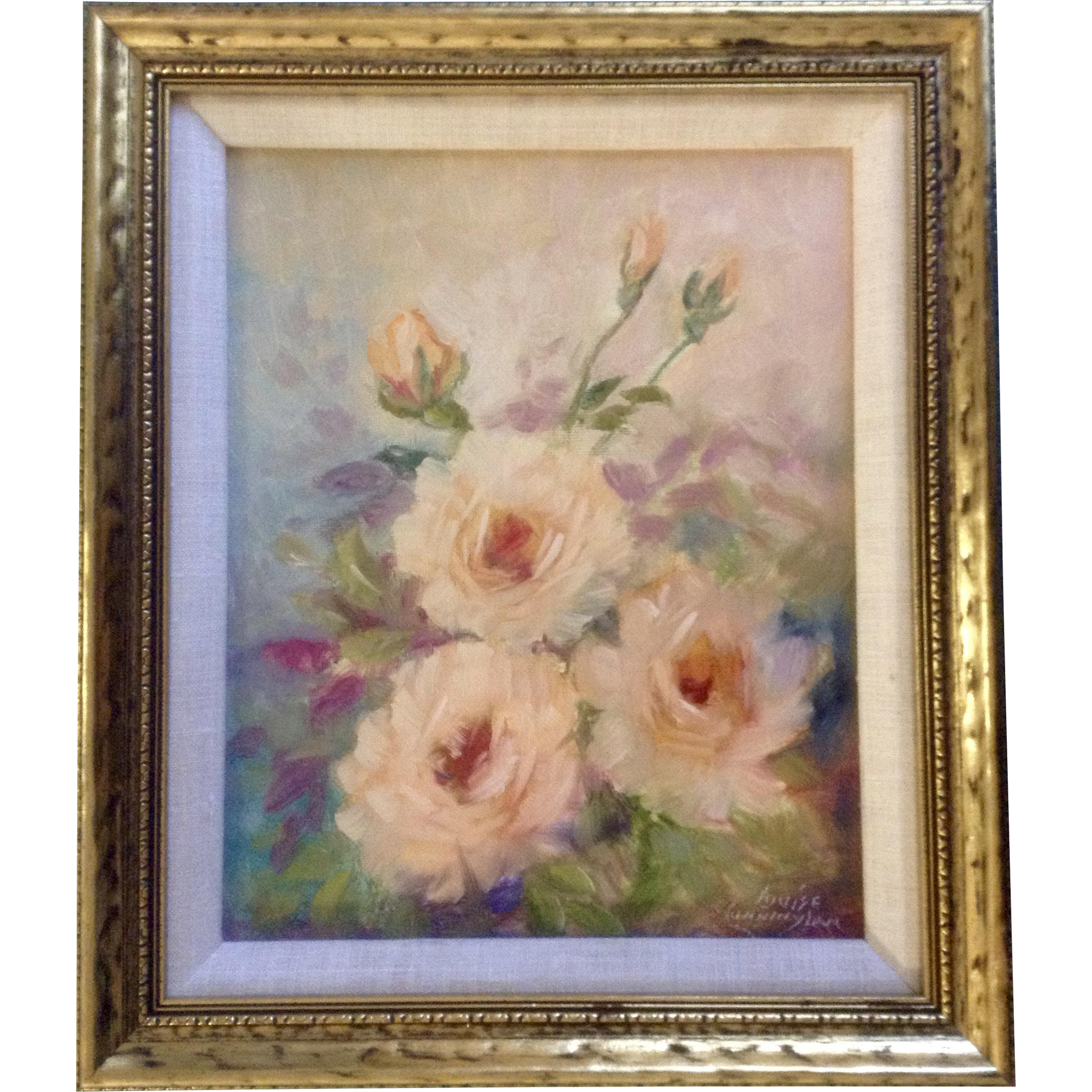 Louise H Grossett Cunningham 1881 1983 Floral Roses On