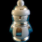 Slatkin & Co Winter Christmas Cookie Jar Penguin Animal Canister Discontinued Bath & Body Works