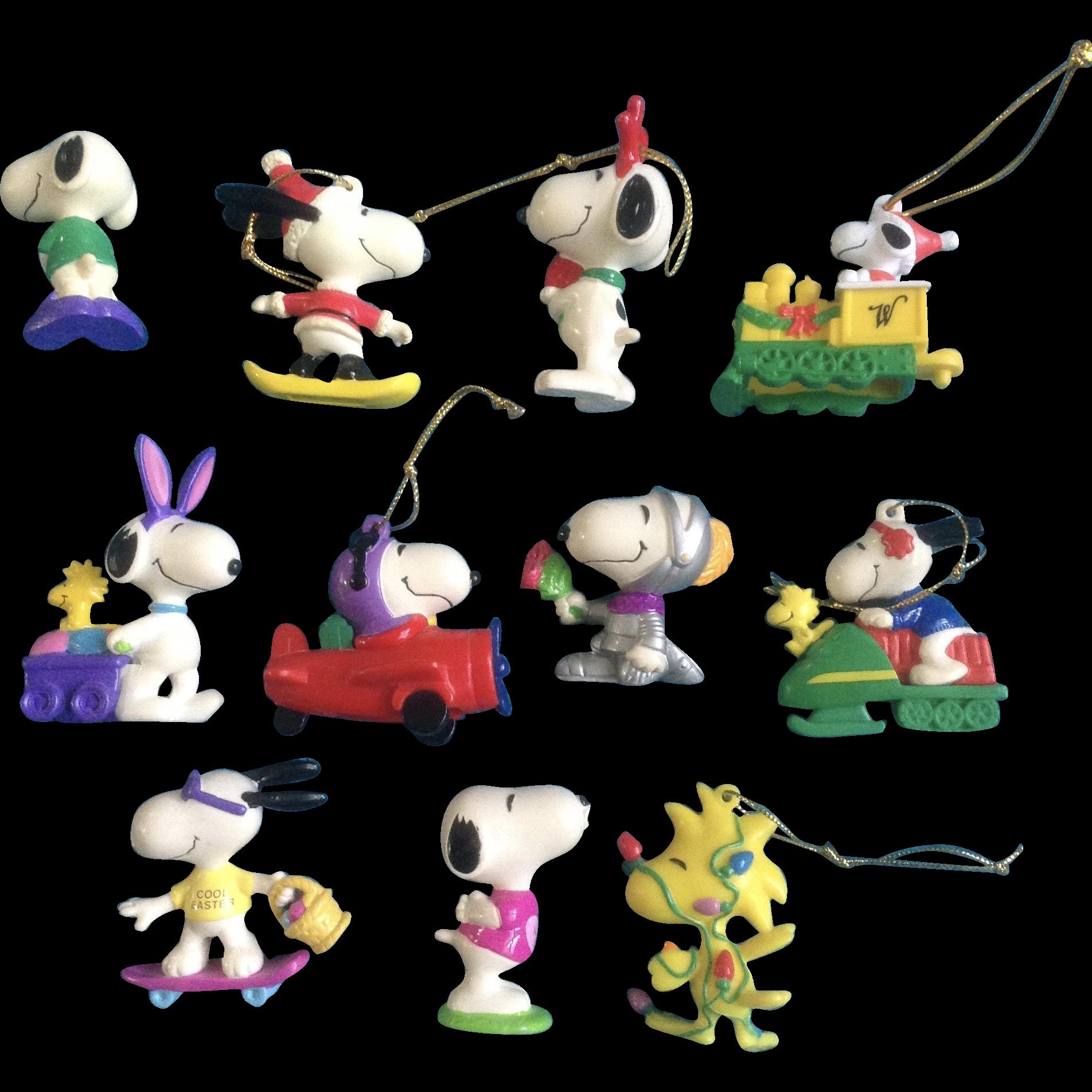 Vintage Snoopy Woodstock Peanuts Rubber Christmas & Easter ...