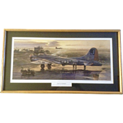 "Merv Corning, B-17G ""Square J's at Farmlingham"" Limited Edition Litho Numbered Print Signed by Artist"