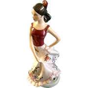 Royal Dux Spanish Dancer Hand Painted Fine Porcelain Figurine 22179 15 83  Marked Czech Republic