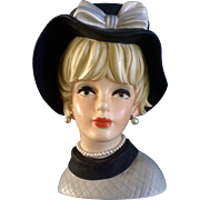 "Napcoware C7497 Head Vase Huge 9-1/2 "" Tall Napco Figurine"