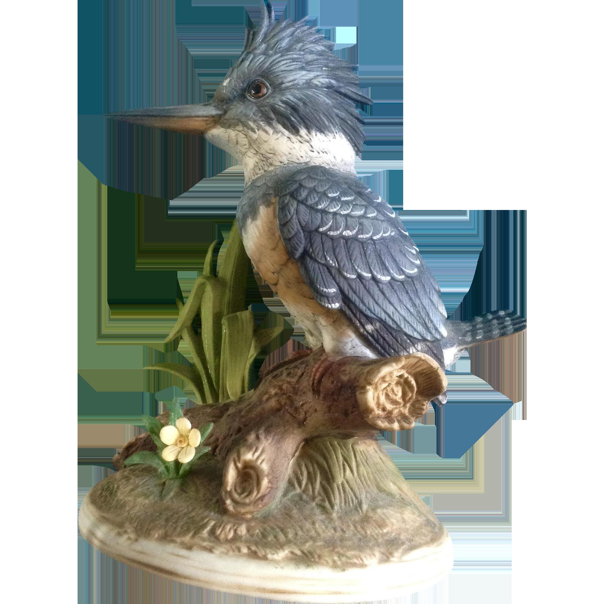 Andrea By Sadek King Fisher Bird Porcelain Figurine #5960 Vintage from gumgumfuninthesun on Ruby ...