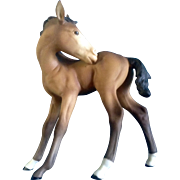 Retired Kaiser Brown Porcelain Foal Horse Colt Germany Figurine