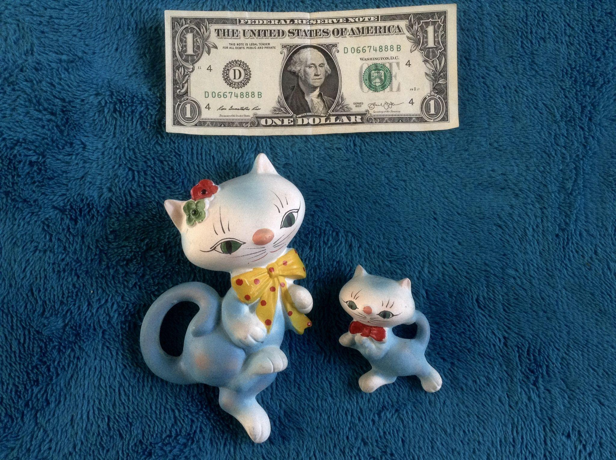 Adorable Kitty Cat Kitten Wall Plaques Chalkware Figurine Hangings From Gumgumfuninthesun On