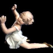 Wallendorf Ballerina 1764 Vintage Porcelain Germany Dancing Girl Figurine
