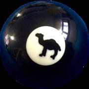 # 8 Joe Camel Cigarettes Black Billiard Pool Ball Rare Vintage Retired Collectable