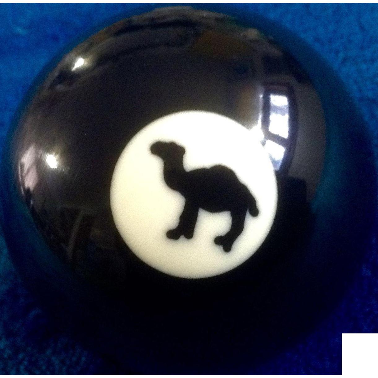 # 8 Joe Camel Cigarettes Black Billiard Pool Table Ball