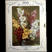 Vintage 1960's Ideals Gallery Litho-Prints Set of 4 Flowers in Vases (Geo Hinke) Elegant Never Used