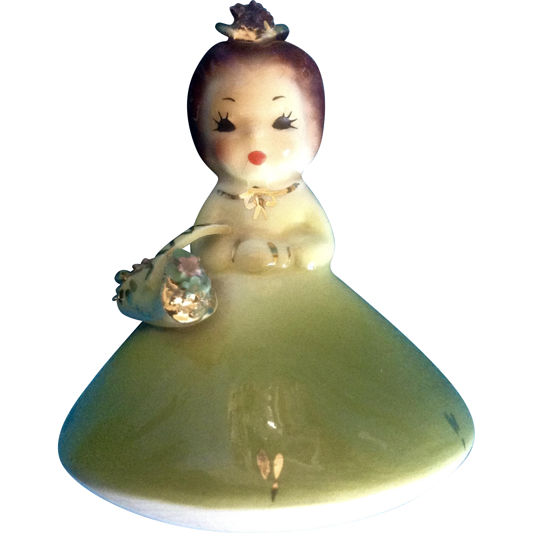 Josef Originals Mushroom Girl Birthday May Vintage Japan