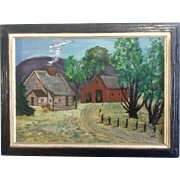 Helen Cartwright, Oil Painting, The Old homestead, Painted on Canvas Board