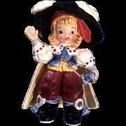 Napco K2559 Bobby Shaftoe Nursery Rhyme Pirate Figurine Mid-Century Japan