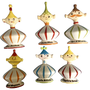 RETIRED Grant Howard HH Pixie Set of 6, Devil Maycare, Opt O'Mistic, Bea Decked, Natalie Attired, Giggle'N Grinn and Just a Flirt Pixieware Figurines