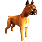 Hutschenreuther Dog Vintage Germany Porcelain Boxer Dog  Animal Figurine