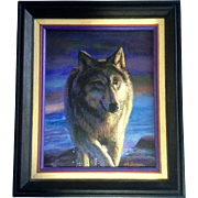 Earl Heflinger, Wolf Creek Acrylic Painting on Canvas Native American Art Signed by Artist