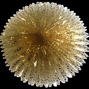 Gorgeous HUGE Star Honeycomb Sky Burst Mid-Century Sparkle Heavy Cellophane Christmas Decoration
