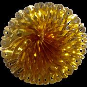 Gorgeous Foil Gold Pinwheel Honeycomb Sky burst Mid-Century Sparkle Christmas Decoration
