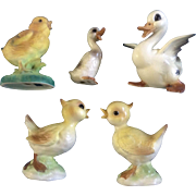 Vintage Ducks & Chicks Josef Originals, Lefton and Inarco Japan Ceramic Mid-Century Easter Bird Figurines