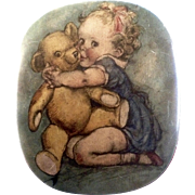 Thornes Premier Toffee Baby & Teddy Bear Candy Tin 1910-1930 Leeds, England