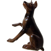 RETIRED Hagen Renaker Mini #827 Doberman Pinscher Miniature Ceramic Dog Figurine